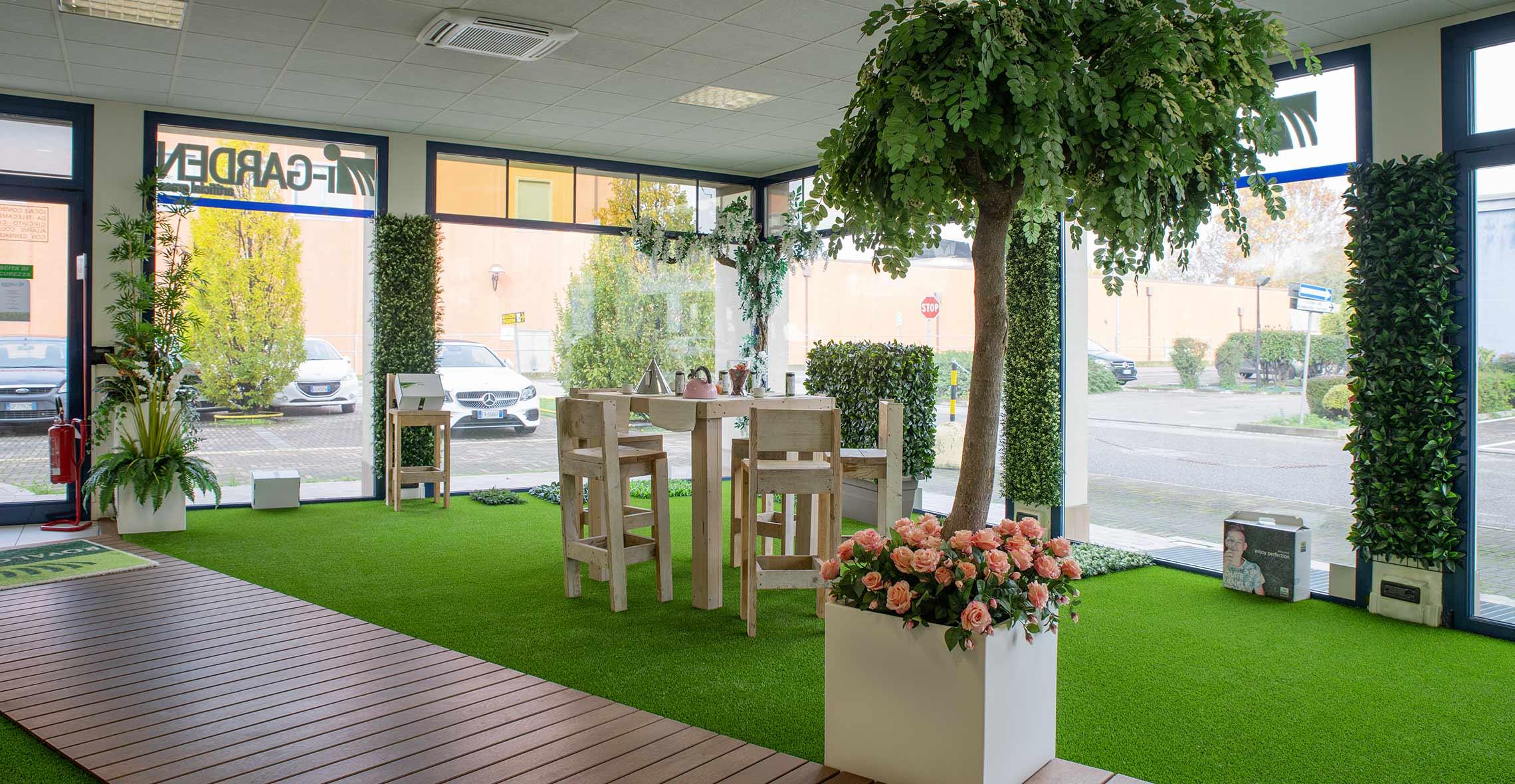 negozio i garden erba sintetica